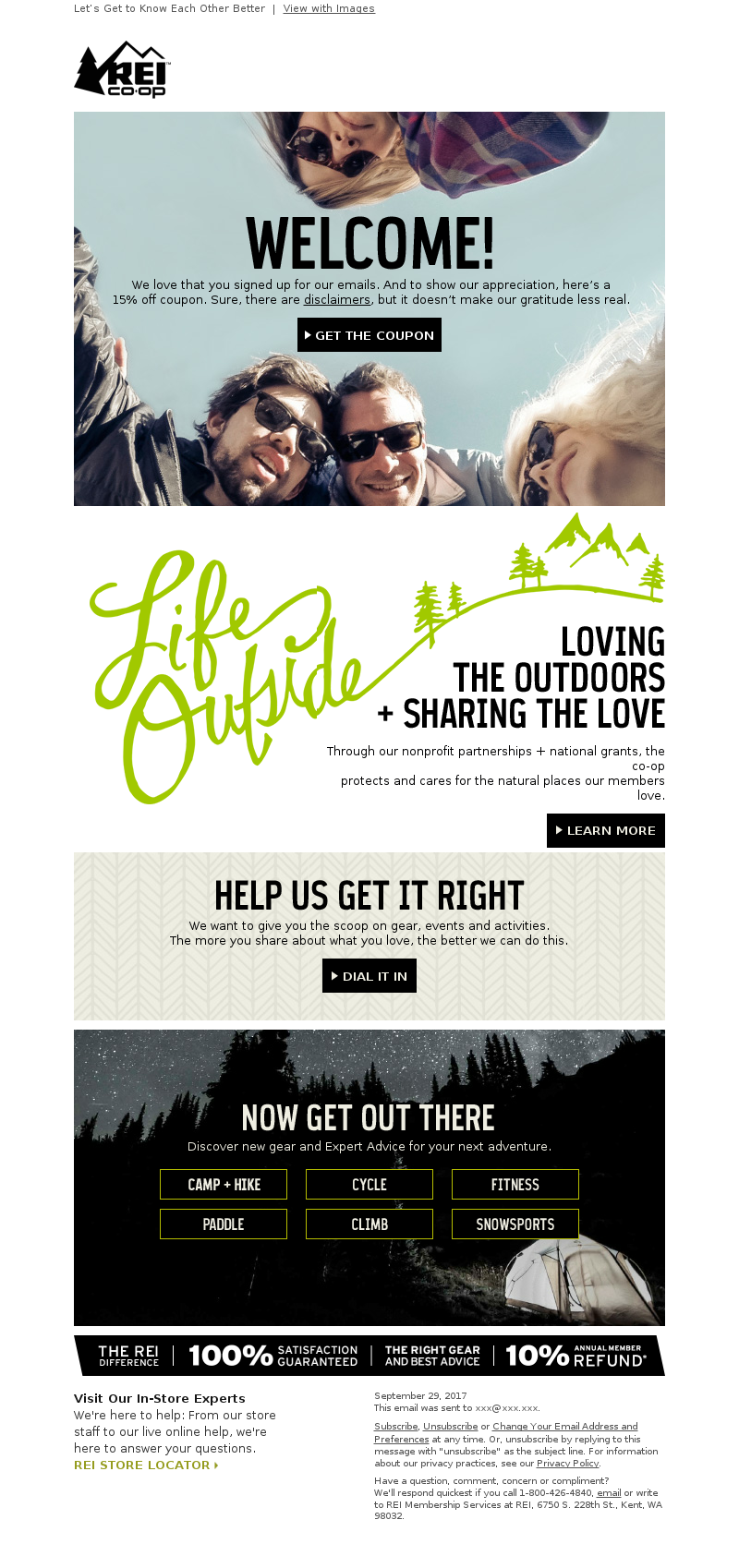 rei welcome email
