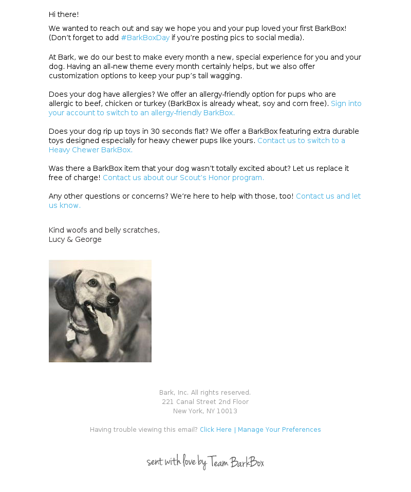 a8957179282 The BarkBox Purchase Email & Unboxing Experience - MailCharts